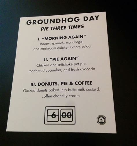 groundhog day flapjacks coffee donut flavored pie flapjacks and tv