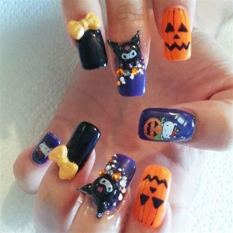 imagenes de uñas de acrilico halloween decoracion de u 241 as con piedras y esmalte
