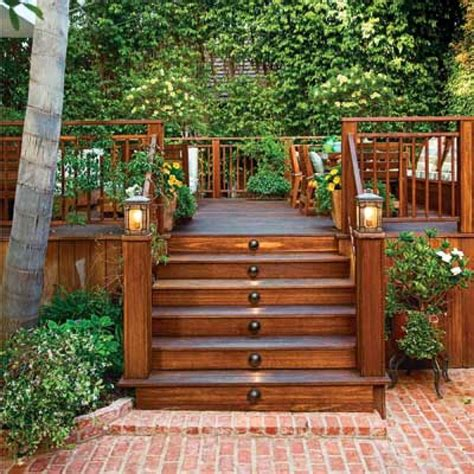 backyard wood patio ideas outdoor stairs pictures from stairspictures com