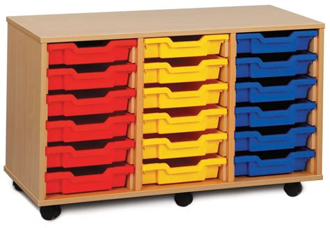 S Corn School Platter 3 monarch mobile school shallow tray storage unit 18 coloured trays beech meq3w col