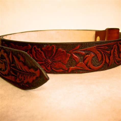 buy  custom hand tooled leather belt   order
