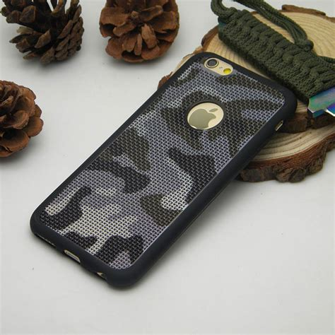 camouflage for iphone 6 6s plus 7 plus silicone tpu breathable mesh radiating soft