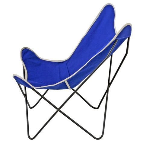 Canvas Sling Chair by Butterfly Sling Chair Cobalt Canvas