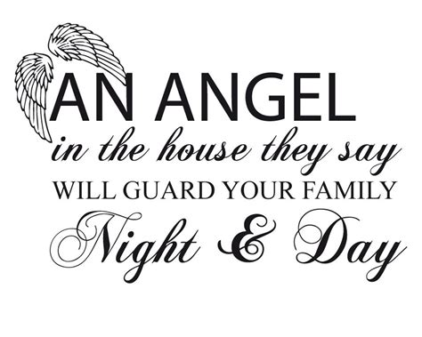 angel in the house an angel in the house they say will guard your family night day quotespictures com