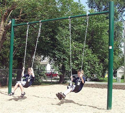 swing set posts single post swingset playground equipment