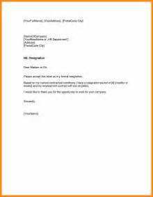Resignation Letter Notice 7 Sle Resign Letter One Month Notice Graphic Resume