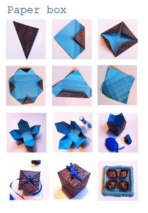 Diy Origami Box - diy paper box diy craft projects