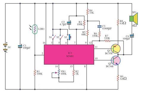 skema rangkaian elektronika gambar skema rangkaian music box gambar skema rangkaian