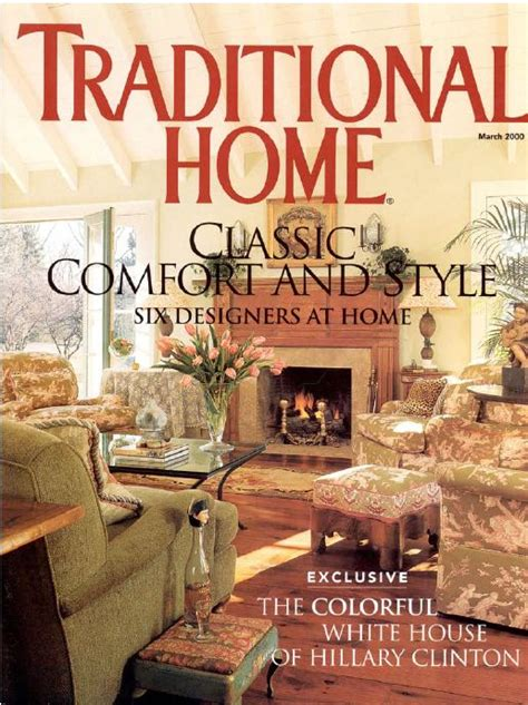 houses magazine traditional home magazine cover 2000 suzy stout hooked