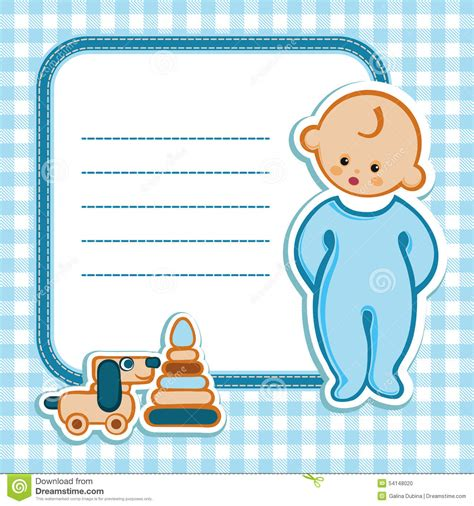 baby birthday card template card for baby shower stock vector image 54148020
