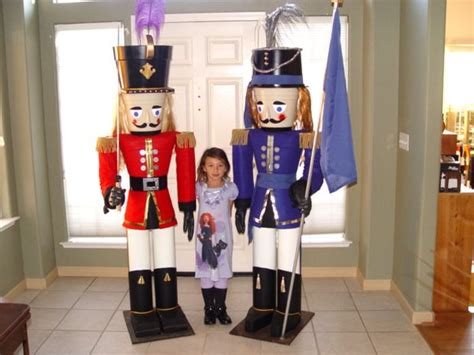 build a 7 foot nutcracker from flower pots