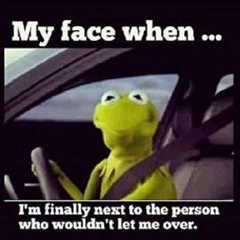 Rude Finger Meme - kermit the frog rude drivers funnies pinterest