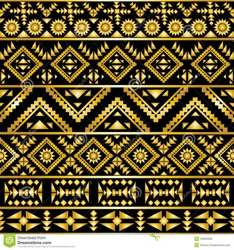 aztec pattern artwork seamless aztec pattern art deco style stock vector image