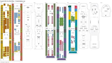 royal caribbean floor plan legend of the seas deck 8 deck plan tour