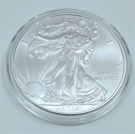1 troy ounce silver eagle coin 2014 1 oz american silver eagle gem bu coin 1 troy ounce