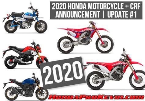 2020 honda motorcycle lineup 2020 honda motorcycles model lineup reviews news new