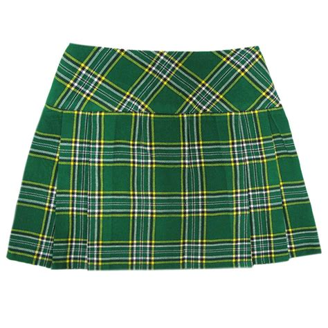 irish plaid irish tartan plaid 16 5 quot mini kilt minikilt skirt with