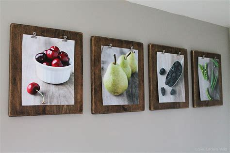 how to hang art prints without frames diy photo clipboards love grows wild