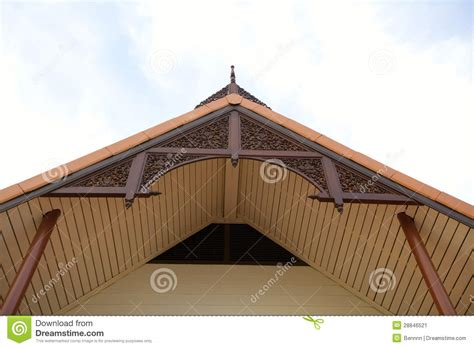 gable roof of the thai house stock image image 28846521