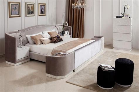 roman modern bed with night stands contemporary bedroom