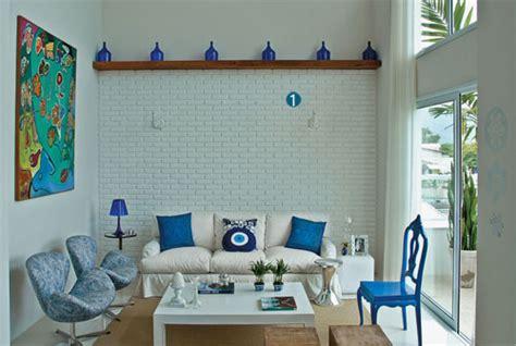 como decorar apartamento de praia apartamento de praia em azul e branco jeito de casa
