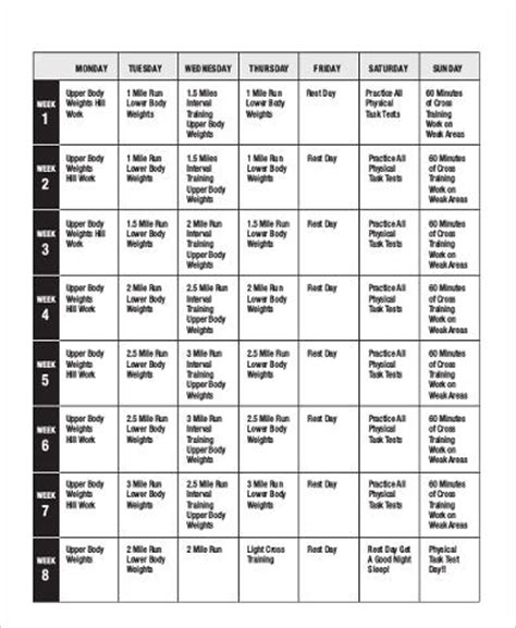 Weekly Fitness Plan Template by 7 Sle Weekly Workout Plans Sle Templates