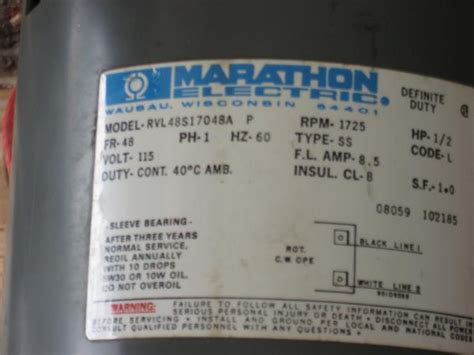 marathon  hp electric motor doityourselfcom community forums