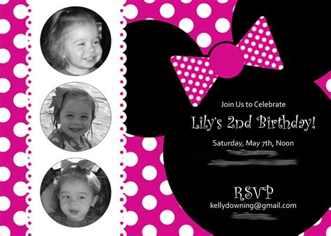 minnie mouse template invitations minnie mouse invitation invitation templates