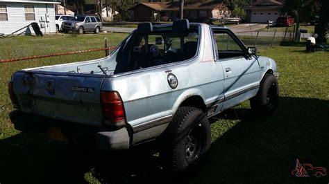 subaru brat custom custom 1985 subaru brat gl standard cab pickup 2 door 1 8l