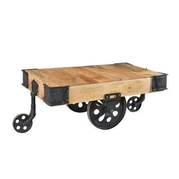 Wooden Cart Coffee Table Best Industrial Cart Coffee Table Products On Wanelo