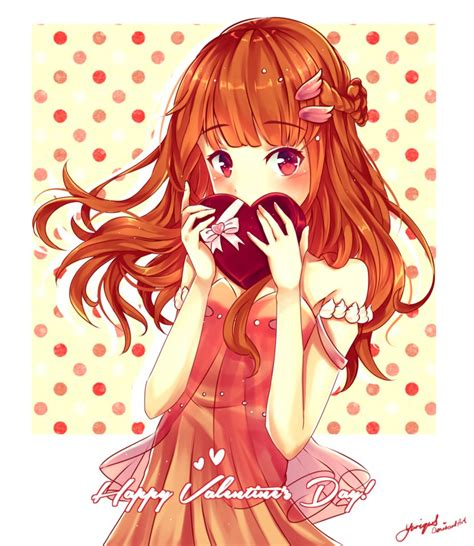 Anime Girl Day Happy Valentine S Day Speedpaint By Yuriques On Deviantart