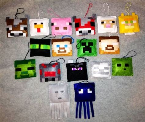 minecraft inspired christmas tree ornaments sets of 6