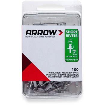 upc 079055008323 rivets arrow fastener rivets 1 8 in aluminum rivets 100 pack white