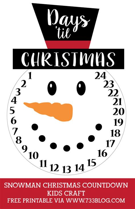 printable instructions for hallmark countdown to christmas clock 2016 diy snowman countdown craft inspiration made simple