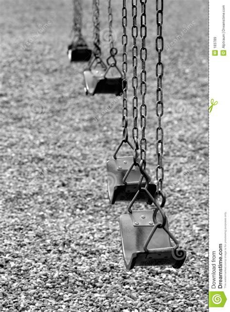 swing black and white playground swings in black and white royalty free stock