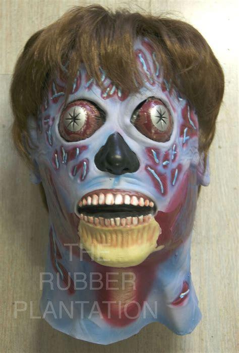 mask halloween alien latex full head neck