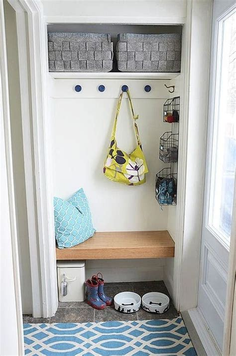 mini  mighty makeshift mudroom entry