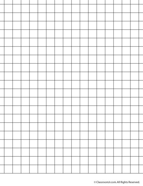 printable graph paper 1 inch 6 best images of full page grid paper printable free