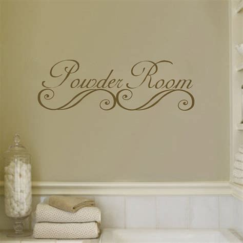 bathroom vinyl wall art powder room bathroom wall decal sticker vinyl art by