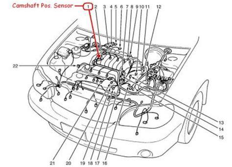 2003 Kia Sedona Engine Diagram 2003 Kia Sedona 2003 Kia Sedona Camshaft Position Sensor Lo