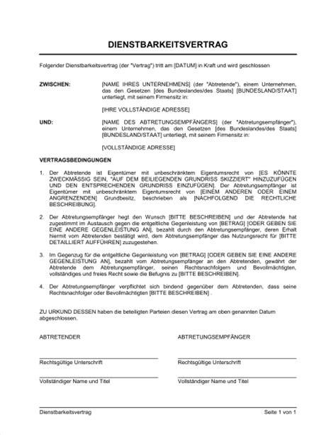 Muster Und Vorlagen Für Trauerreden Dienstbarkeitsvertrag Vorlagen Und Muster Biztree