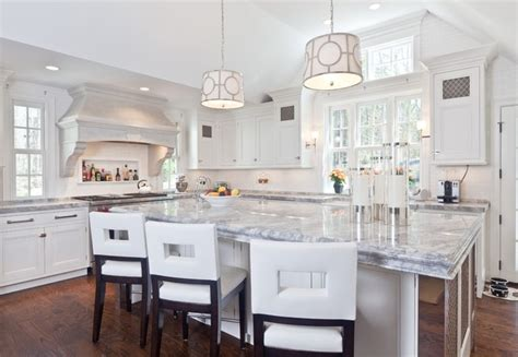 White Kitchen Top White Quartzite Kitchen Counter Tops Contemporary
