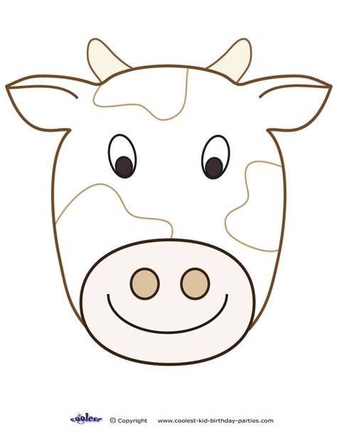 fil a cow mask template large printable cow decoration coolest free printables