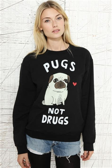 pugs not drugs jumper mens pugs not drugs sweater 163 45 00 pugs outfitters mothers and gifts