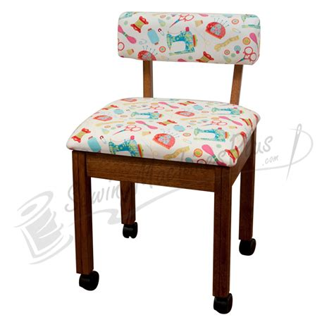 arrow cabinets sewing chair arrow sewing chair white riley blake fabric on oak 7000w