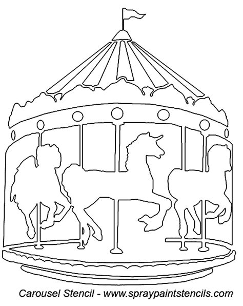 merry go template stencil requests for october 2006