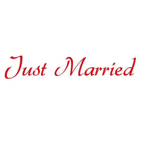 Aufkleber Just Married by Autoaufkleber Quot Just Married Quot Auto Aufkleber Zur Hochzeit