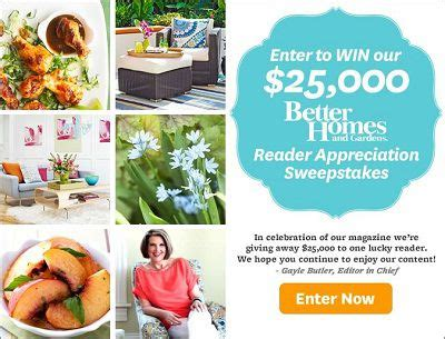 Bhg 25000 Sweepstakes - 25 000 bhg com reader appreciation sweepstakes sweepstakesbible