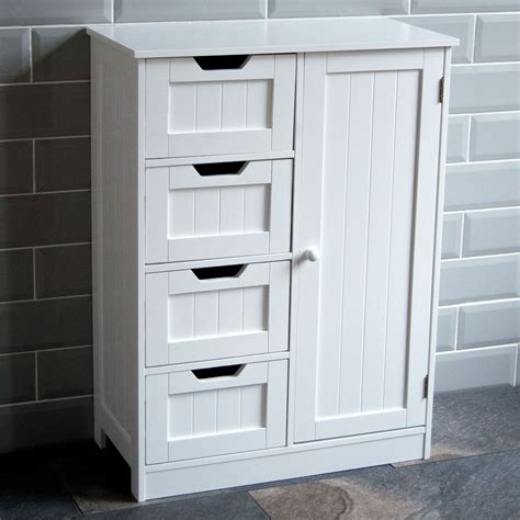 White Wooden Bathroom Furniture by Bathroom Cabinet Single Door Wall Mounted Tallboy