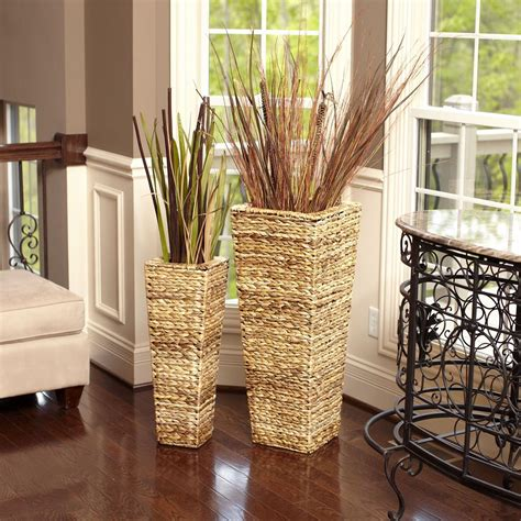 Flower Vase Floor L by Household Essentials 35 In X 14 In Water Hyacinth Nested
